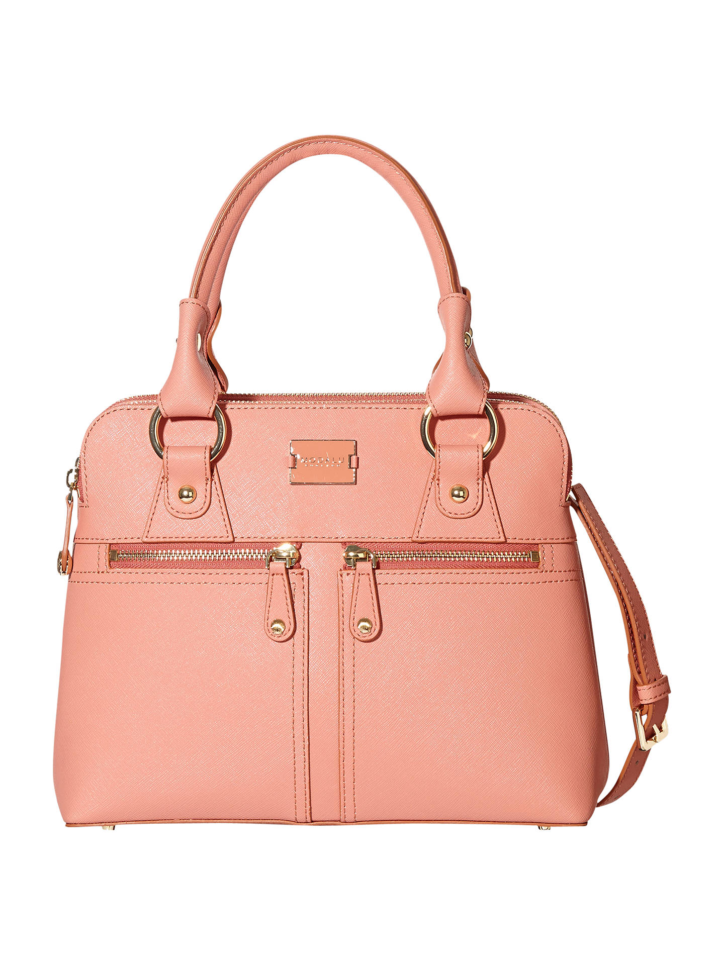 ad47b4ab67 Modalu Pippa Classic Small Leather Grab Bag at John Lewis   Partners
