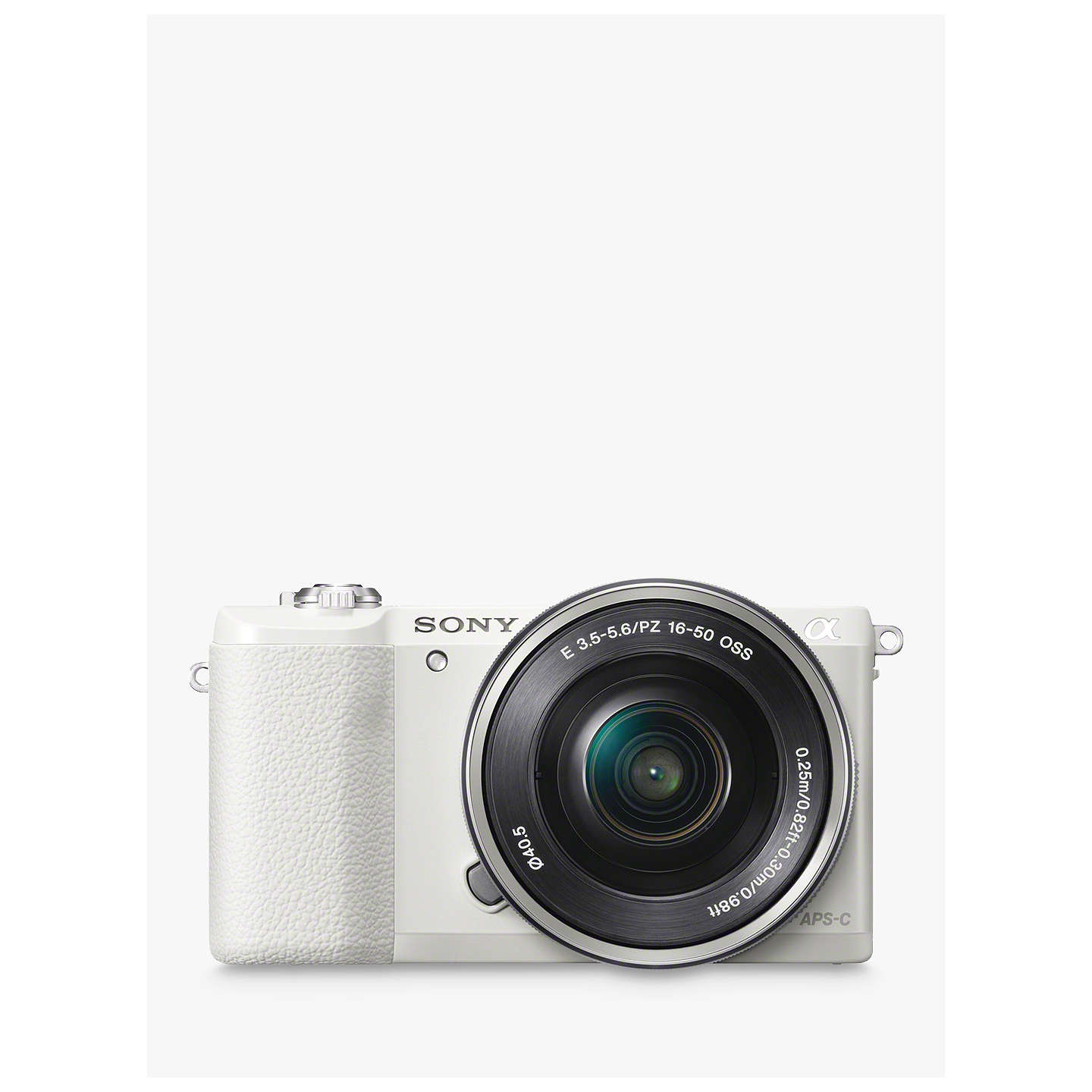 """Sony A5100 Compact System Camera With 16 50mm Oss Lens, Hd 1080p, 24.3 Mp, Wi Fi, Nfc, Oled, 3"""" Tilting Touch Screen, White by Sony"""