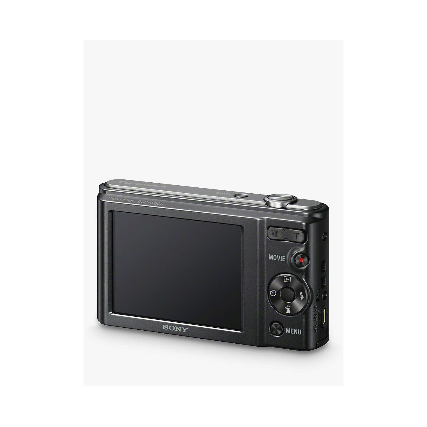 "BuySony CyberShot DSC-W800 Compact Camera, HD 720p, 20.1MP, 5x Optical Zoom, 2.7"" LCD Screen, Black Online at johnlewis.com"