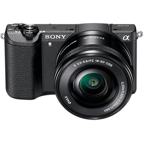 "Buy Sony A5100 Compact System Camera with 16-50mm OSS Lens, HD 1080p, 24.3MP, Wi-Fi, NFC, OLED, 3"" Tilting Touch Screen Online at johnlewis.com"