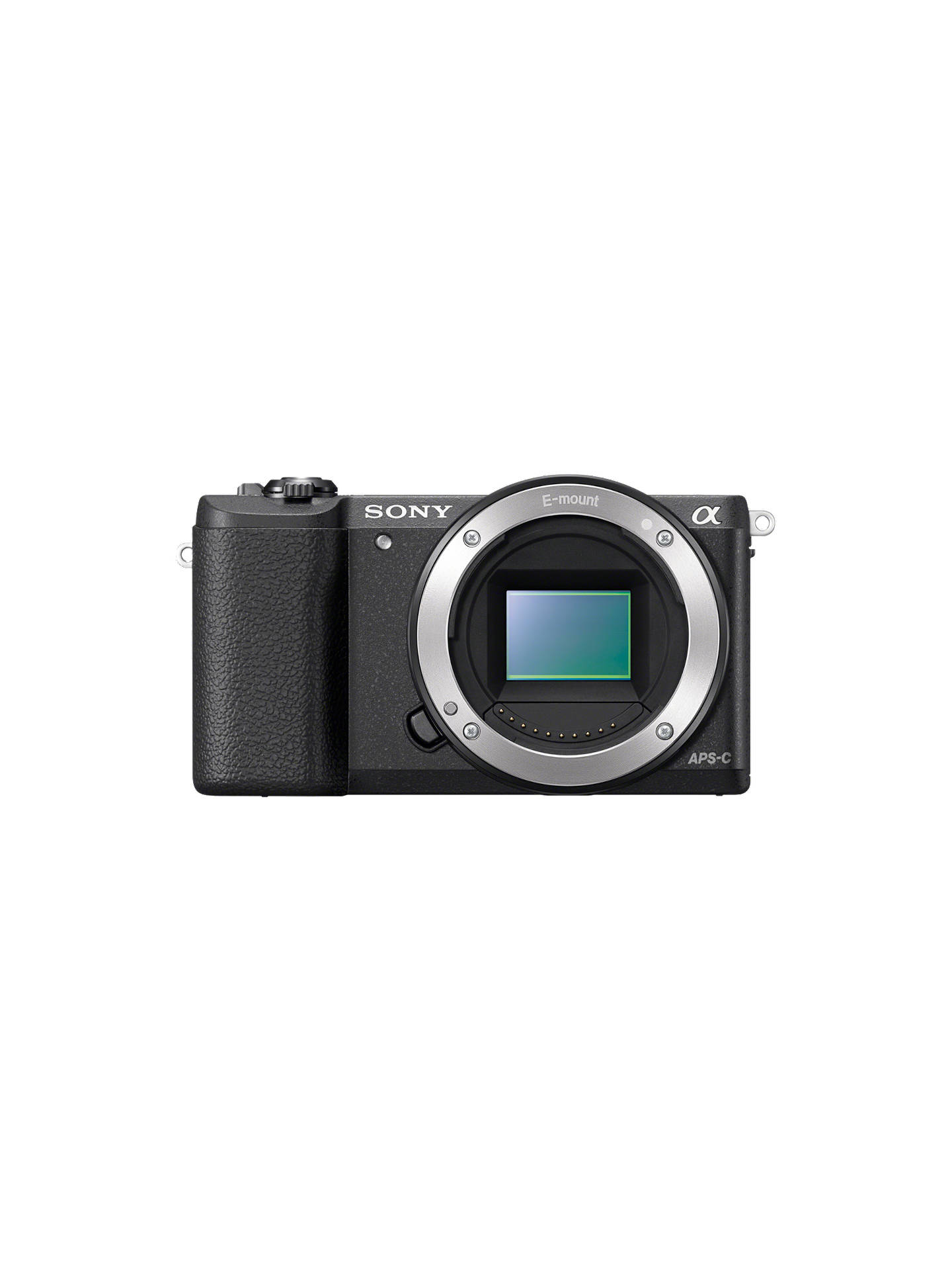 "BuySony A5100 Compact System Camera with 16-50mm OSS Lens, HD 1080p, 24.3MP, Wi-Fi, NFC, OLED, 3"" Tilting Screen, Black Online at johnlewis.com"