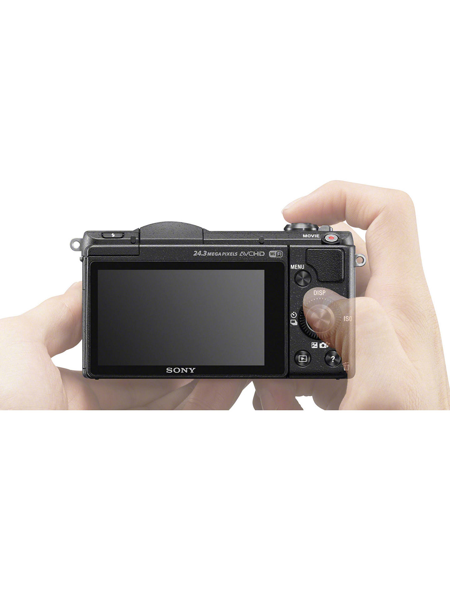 Sony A5100 Compact System Camera with 16-50mm OSS Lens, HD 1080p, 24 3MP,  Wi-Fi, NFC, OLED, 3