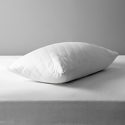 John Lewis & Partners Natural Cotton Quilted Standard Pillow Protector