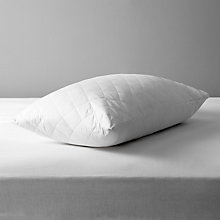 Buy John Lewis Natural Cotton Quilted Standard Pillow Protector Online at johnlewis.com