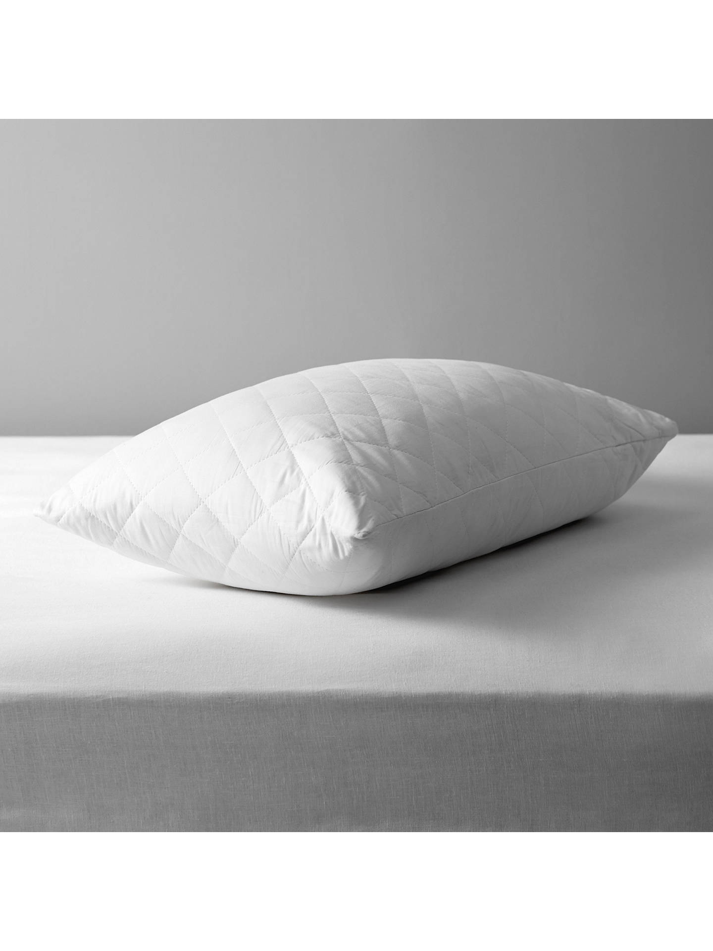 John Lewis Partners Natural Cotton Quilted Standard Pillow Protector