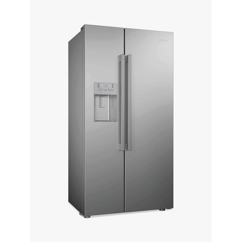 beko asn541s american style fridge freezer silver at john. Black Bedroom Furniture Sets. Home Design Ideas