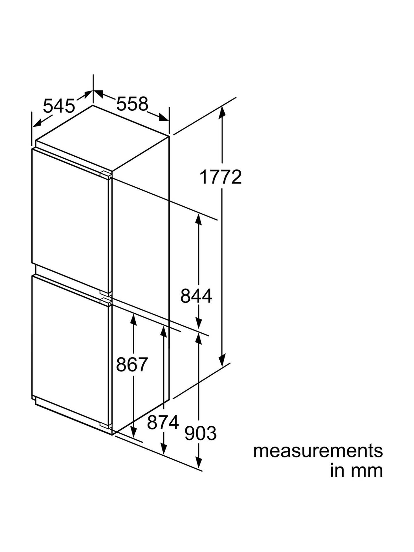 Neff Ki7853d30g Integrated Fridge Freezer A Energy Rating 56cm Door Alarm Circuit Diagram Buyneff Wide Online At Johnlewis