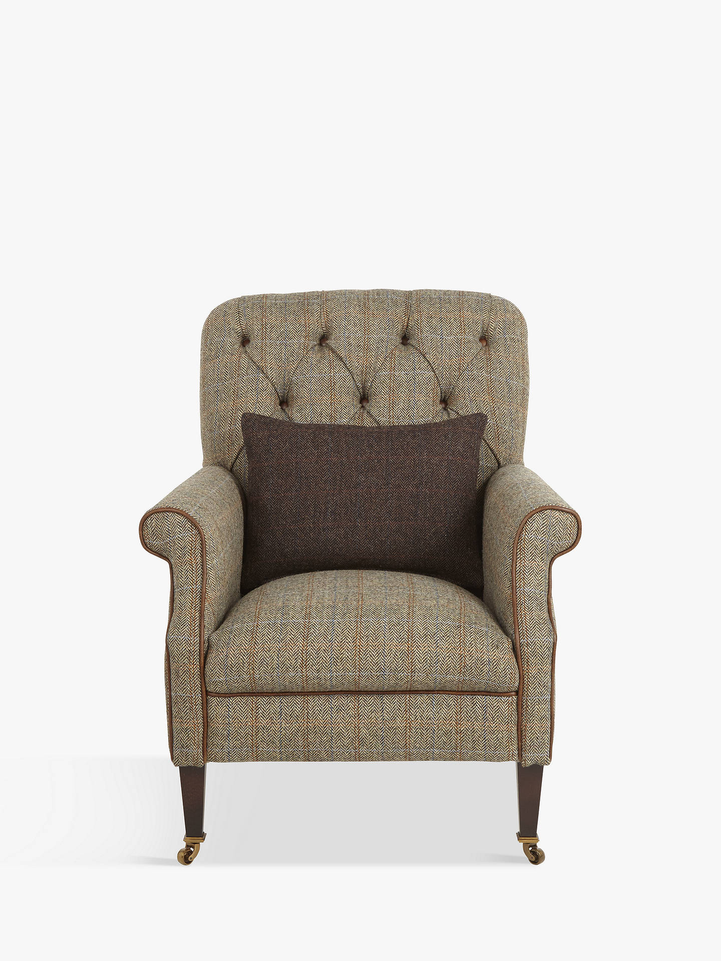 Admirable Tetrad Flynn Armchair With Brompton Leather Trim Bracken Ncnpc Chair Design For Home Ncnpcorg