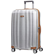 Buy Samsonite Litecube DLX 4-Wheel 76cm Large Suitcase, Silver Online at johnlewis.com
