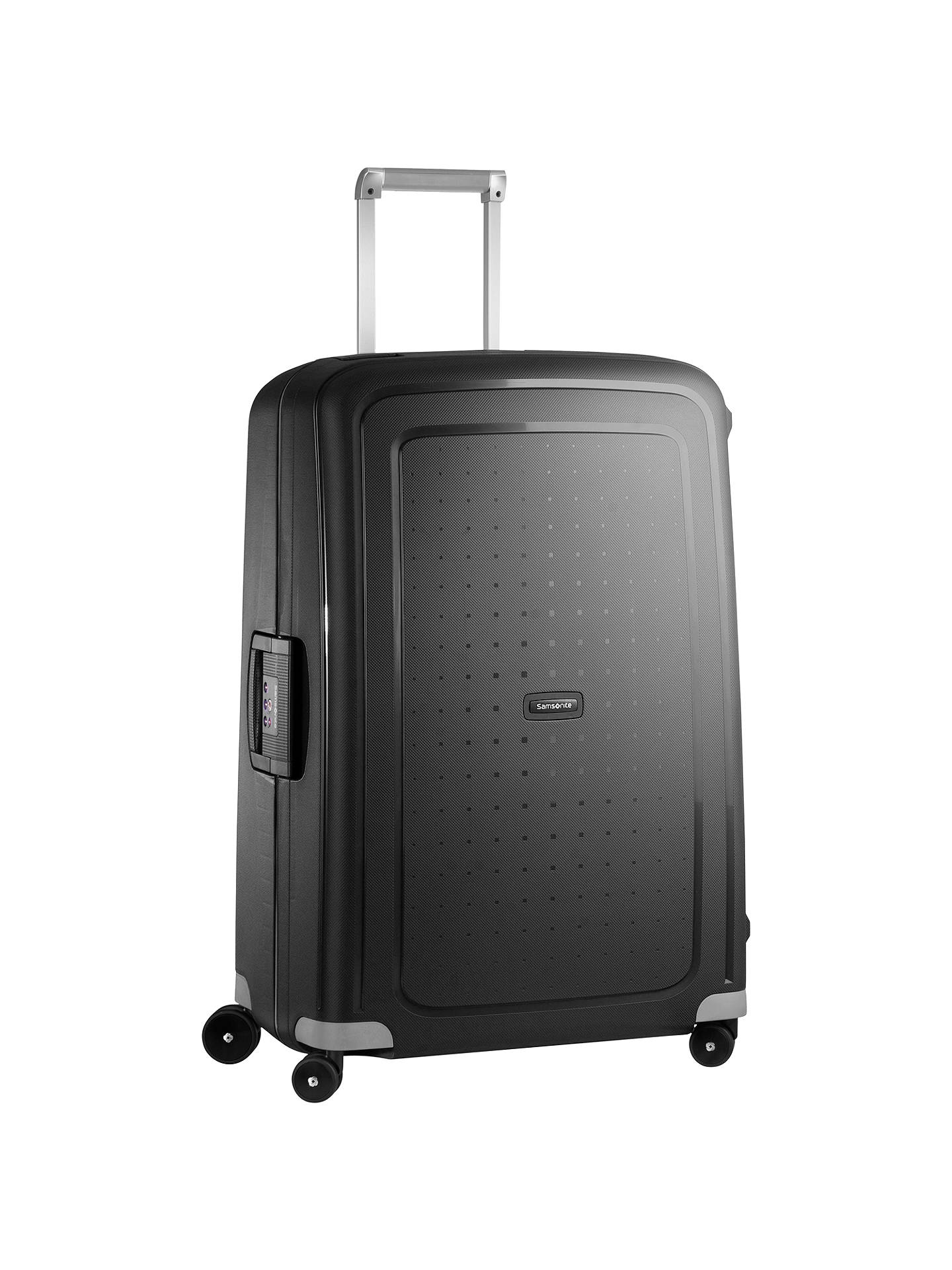 743c049ae Buy Samsonite S'Cure 4-Wheel 81cm Extra Large Suitcase, Black Online at ...