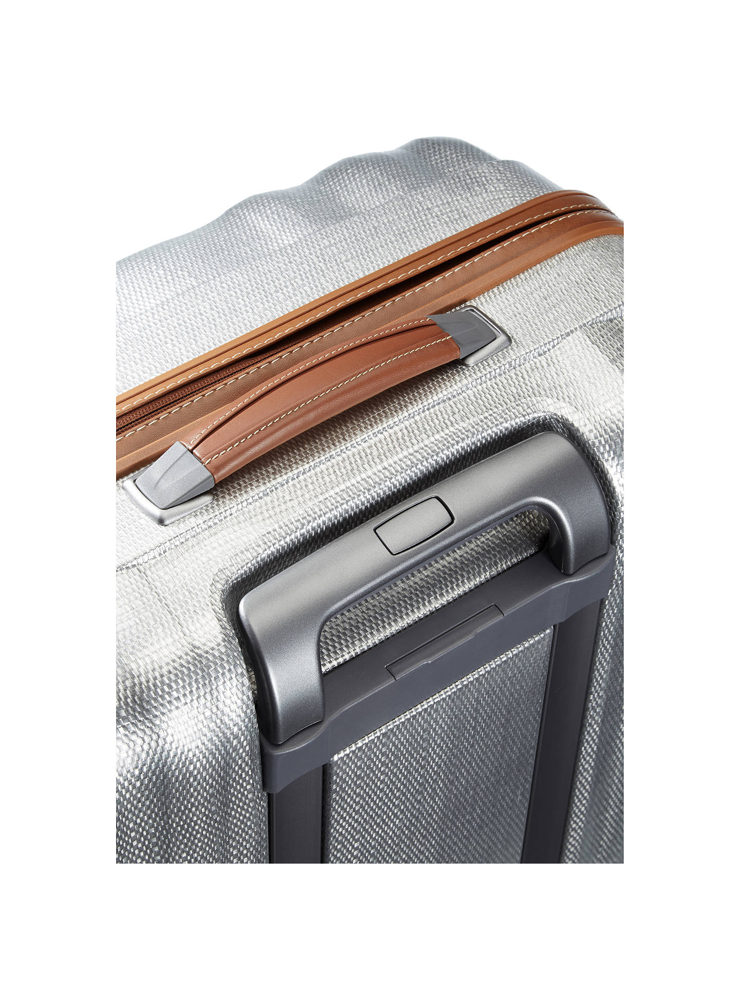 Buy Samsonite Litecube DLX 4-Wheel 82cm Suitcase, Silver Online at johnlewis.com