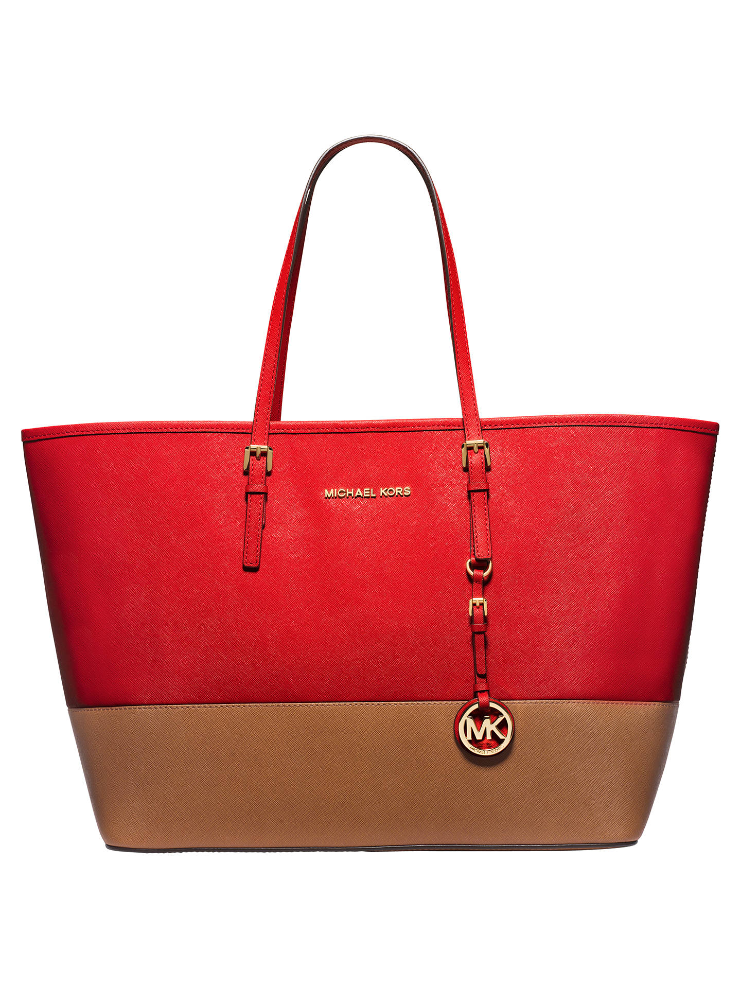 8961f802dbf4 Buy MICHAEL Michael Kors Jet Set Travel Color Block Medium Saffiano Leather  Tote Bag
