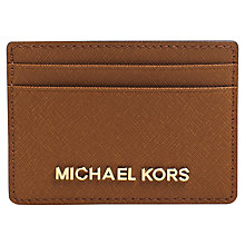 Buy MICHAEL Michael Kors Jet Set Travel Leather Card Holder, Luggage Online at johnlewis.com