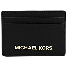 Buy MICHAEL Michael Kors Jet Set Travel Leather Card Holder, Black Online at johnlewis.com
