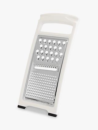 John Lewis & Partners The Basics Stainless Steel Flat Grater