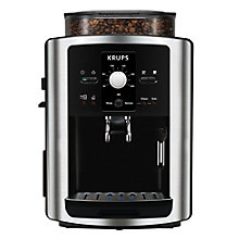 Buy KRUPS EA801040 Espresseria Bean-to-Cup Coffee Machine, Stainless Steel Online at johnlewis.com