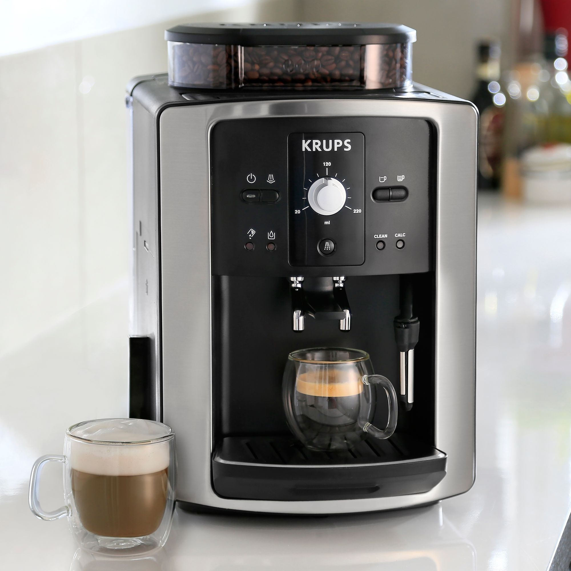 Coffee Maker Qatar : Buy KRUPS EA801040 Espresseria Bean-to-Cup Coffee Machine, Stainless Steel John Lewis