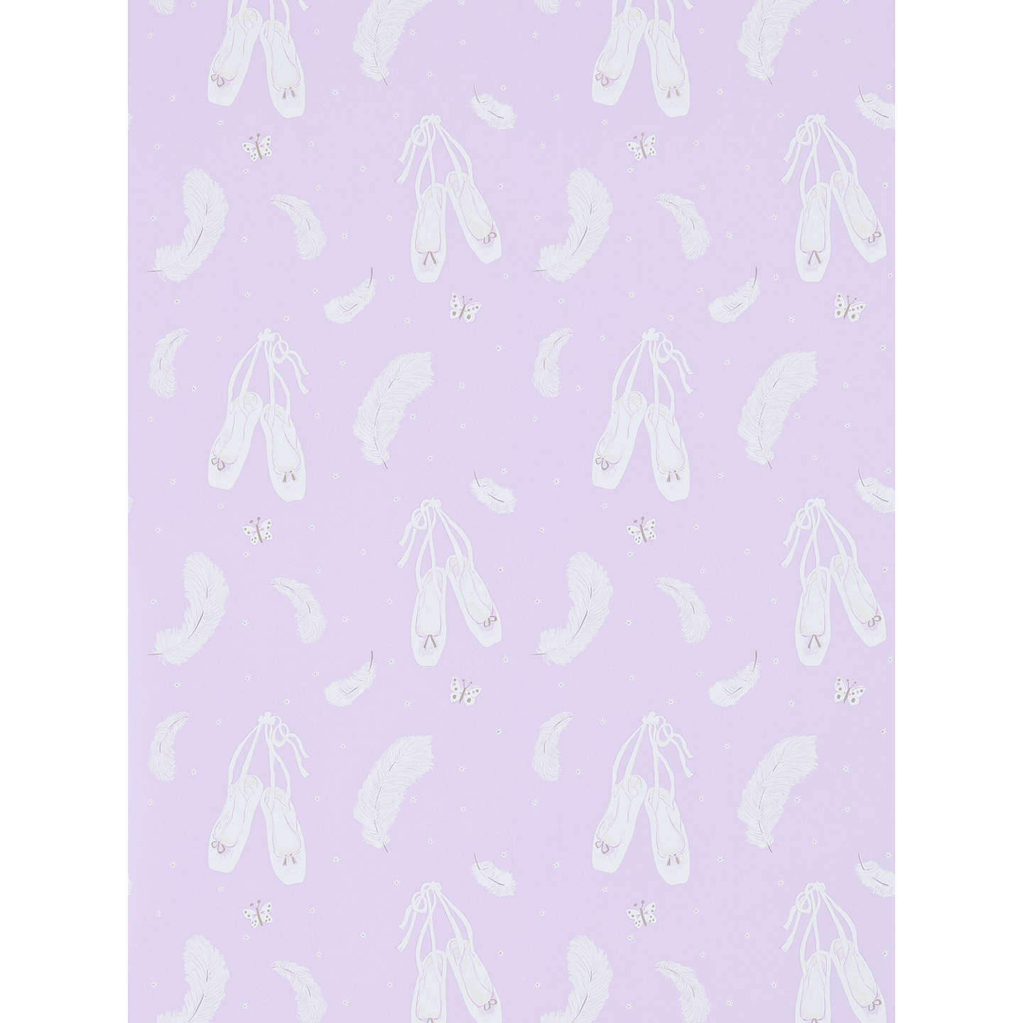 Sanderson ballet shoes wallpaper at john lewis buysanderson ballet shoes wallpaper lavender dlit214019 online at johnlewis voltagebd