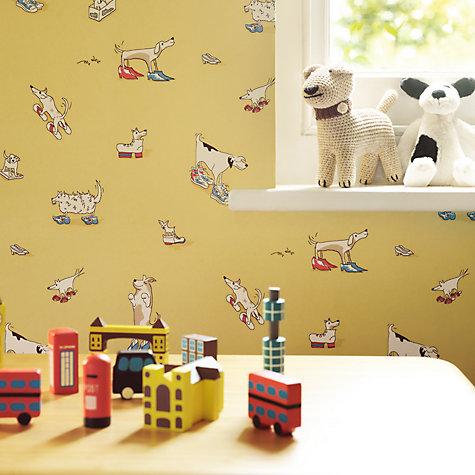 buy sanderson dogs in clogs wallpaper john lewis