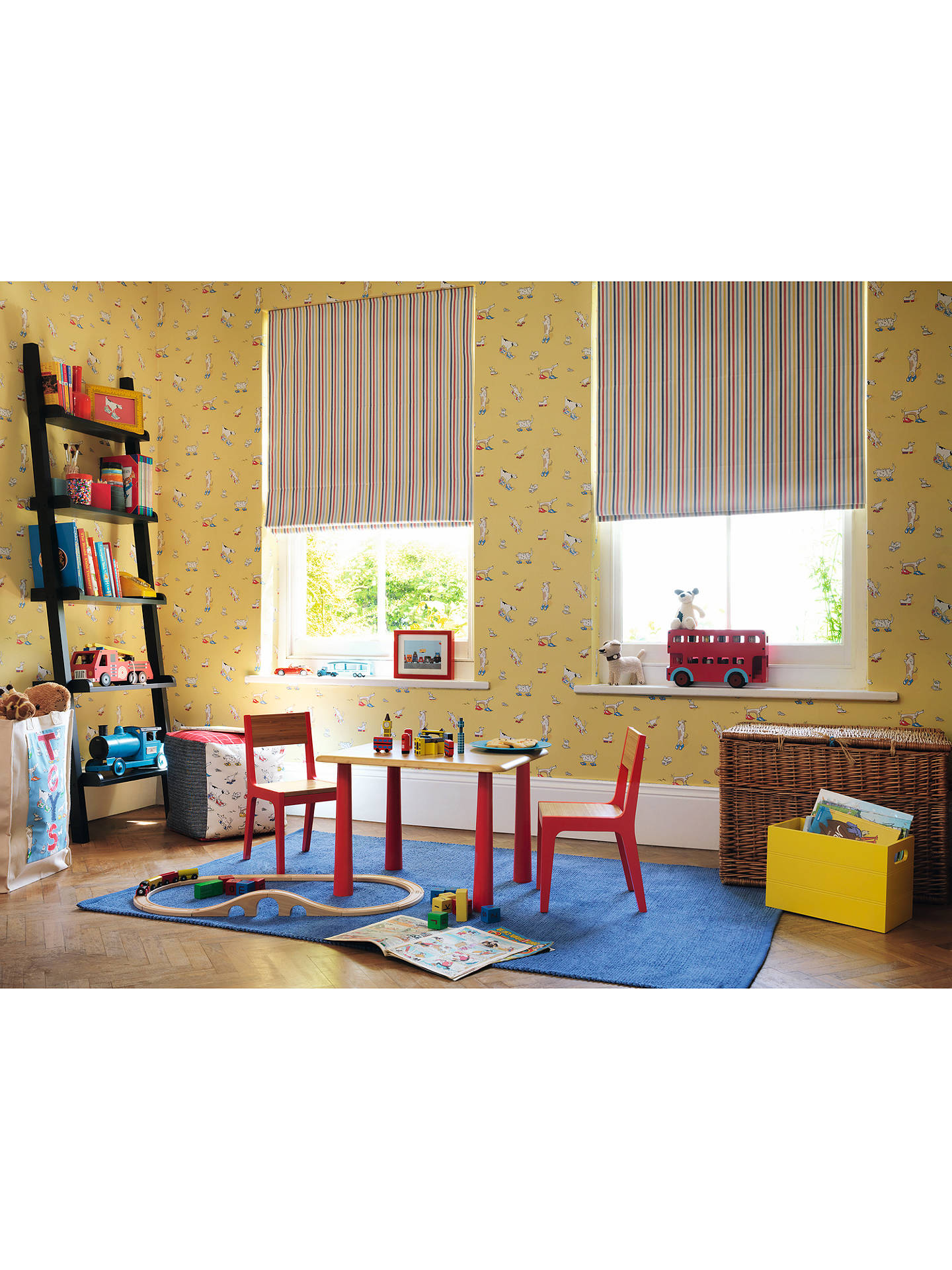 BuySanderson Dogs in Clogs Wallpaper, Yellow, DLIT214012 Online at johnlewis.com