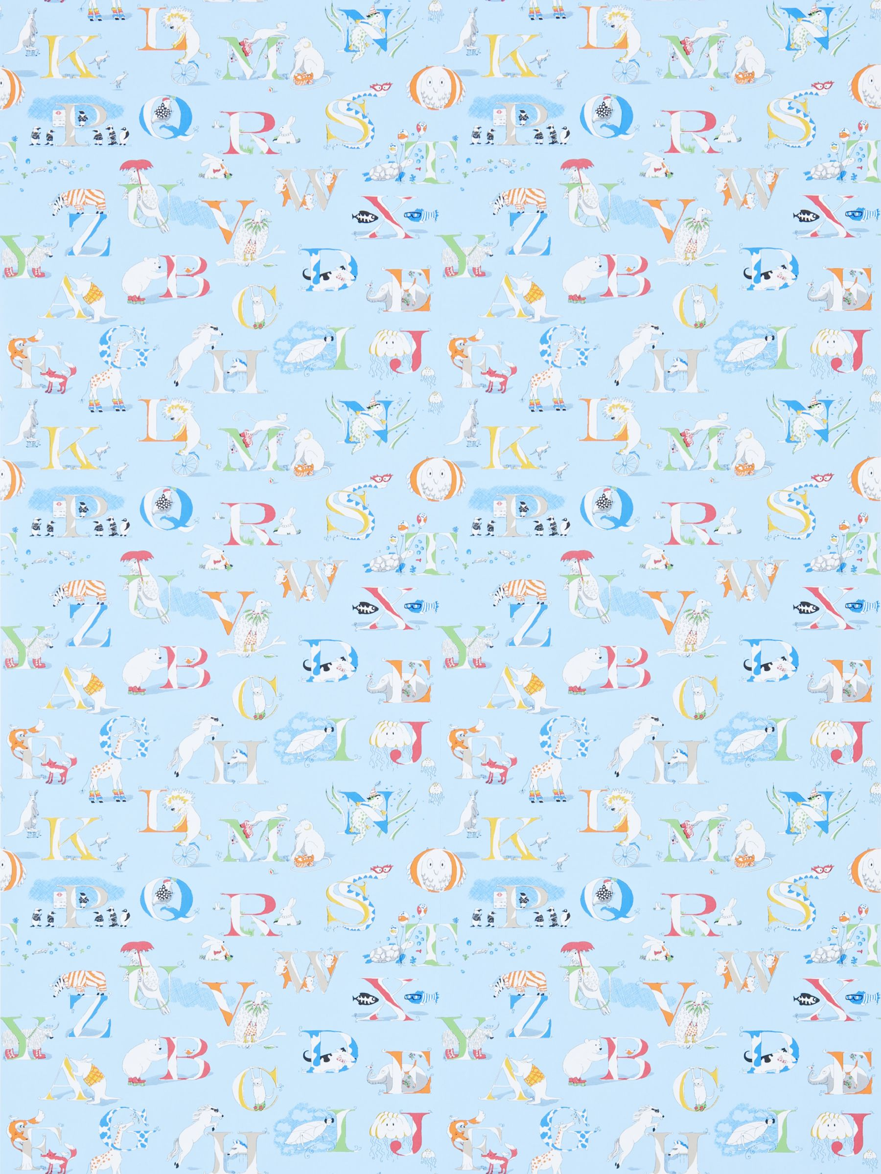 Sanderson Sanderson Alphabet Zoo Wallpaper