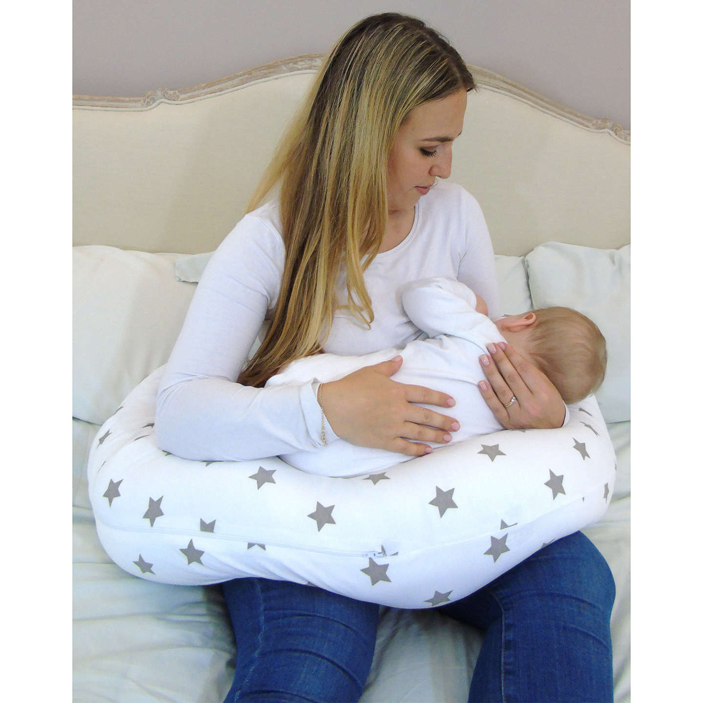 BuyWidgey Plus Multi-Use Pregnancy & Sleep Pillow, Silver Star Online at johnlewis.com