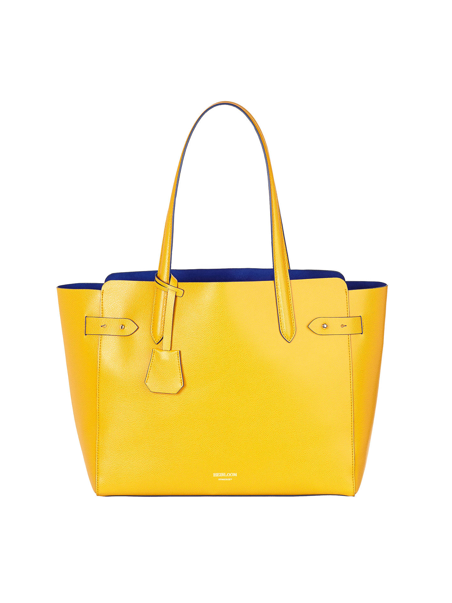 Modalu Heirloom Large Leather Tote Bag Yellow Online At Johnlewis