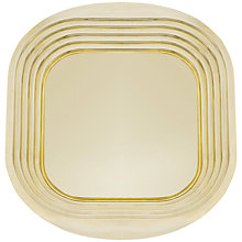 Buy Tom Dixon Form Square Tray, Brass Online at johnlewis.com