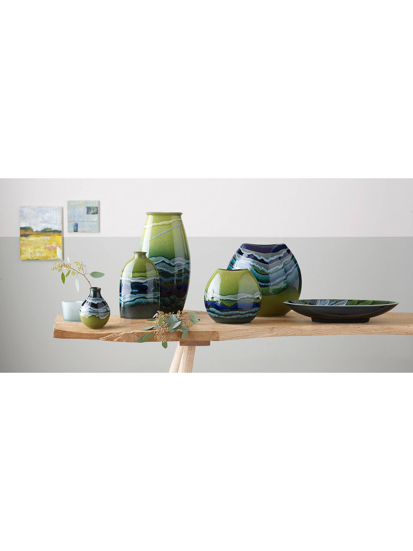 BuyPoole Pottery Maya Purse Vase, H26cm Online at johnlewis.com