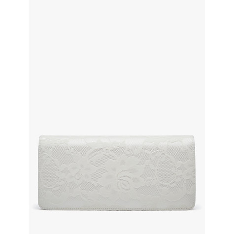 Buy Rainbow Club Tilly Satin Clutch Bag, Ivory Online at johnlewis.com