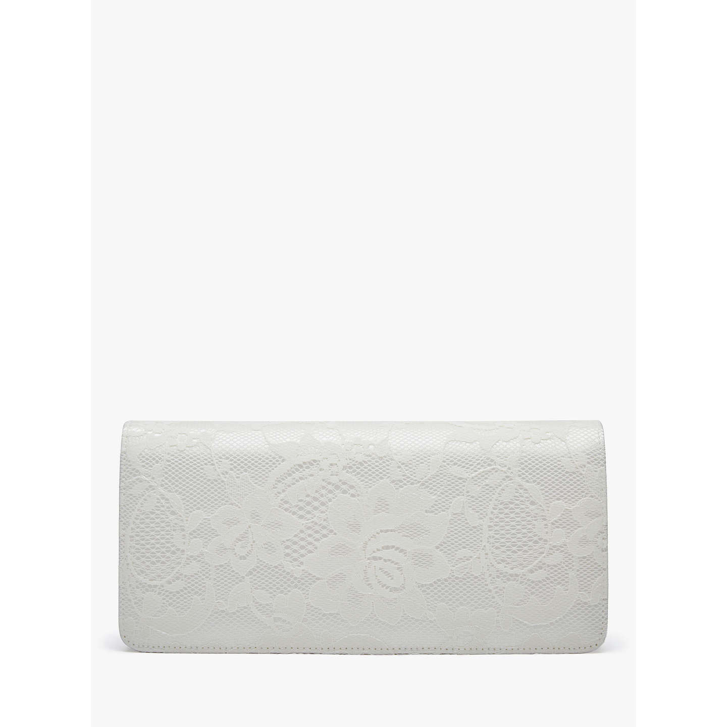 BuyRainbow Club Tilly Satin Clutch Bag, Ivory Online at johnlewis.com