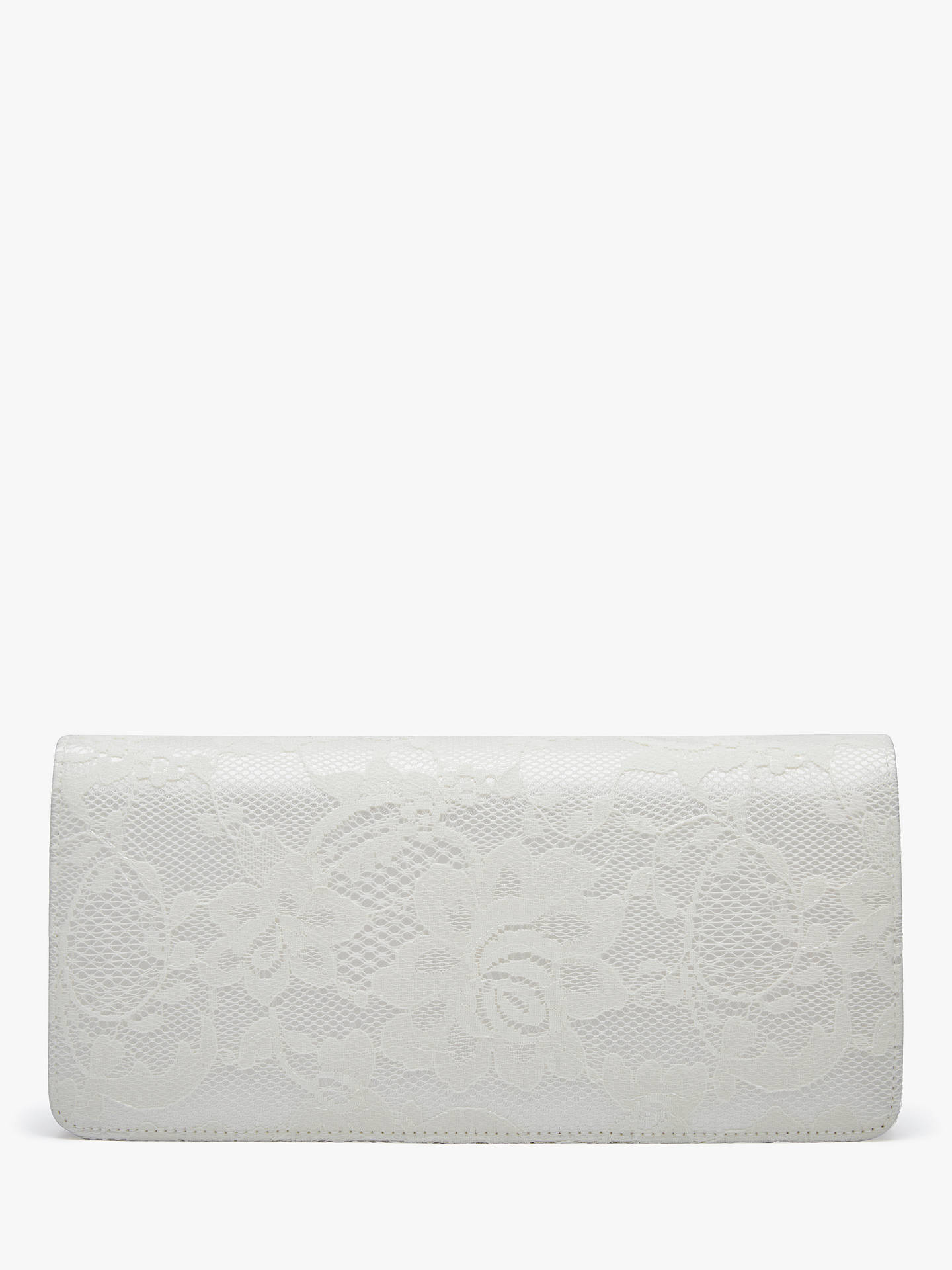 0682b8fd39 Buy Rainbow Club Tilly Satin Clutch Bag, Ivory Online at johnlewis.com