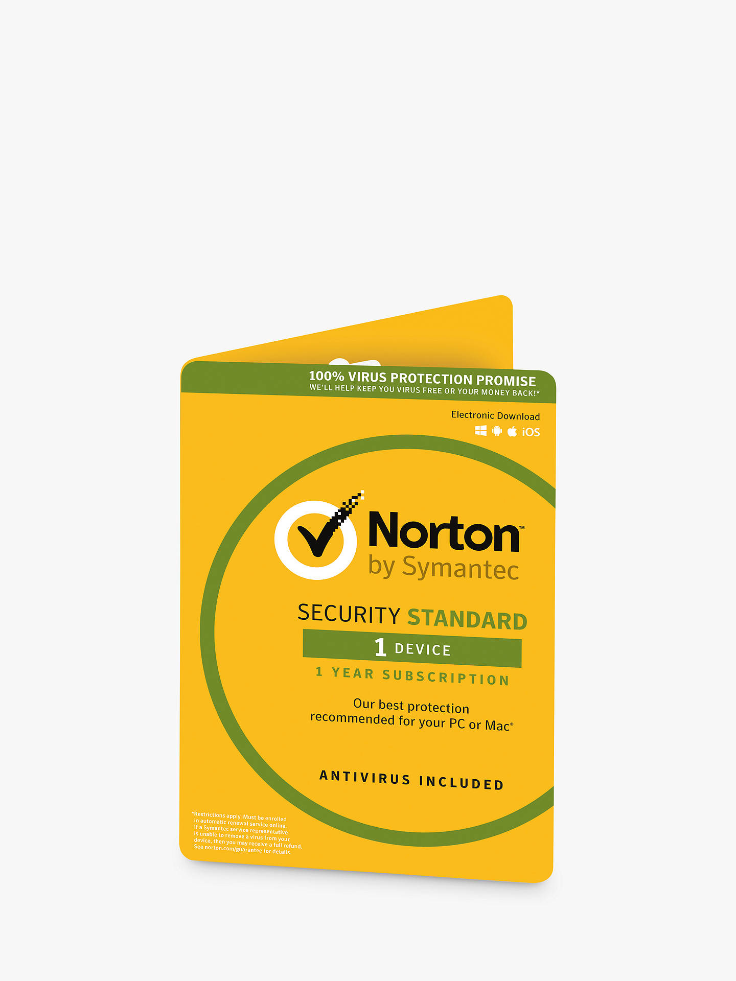BuyNorton Security 3.0: 1 User, 1 Device Online at johnlewis.com
