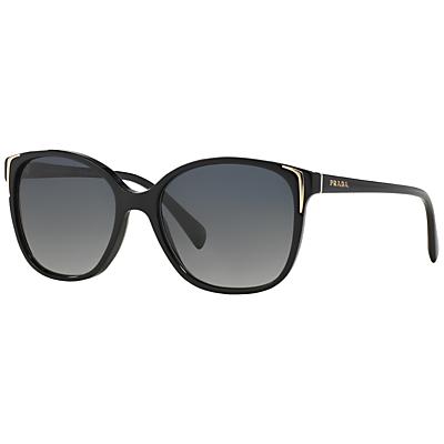 Prada PR01OS Oval Sunglasses, Black