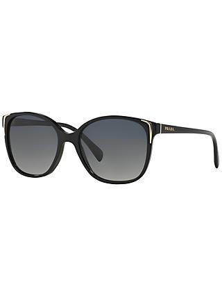 Prada PR01OS Oval Sunglasses, Black