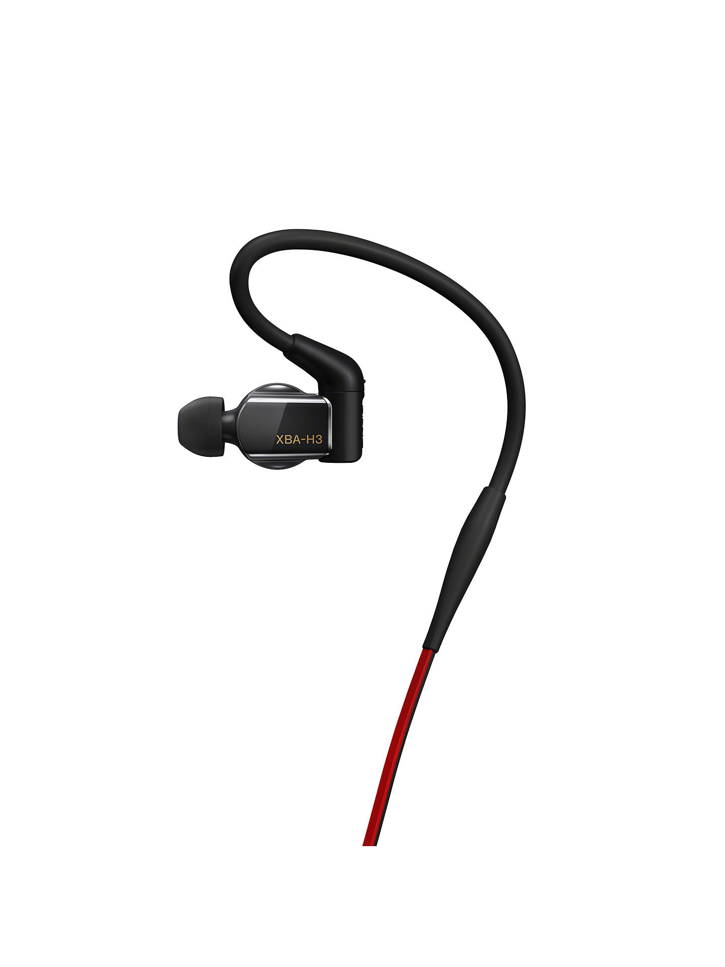 BuySony XBA-H3 In-Ear Headphones with Remote/Mic, Black Online at johnlewis.com