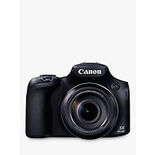 "Buy Canon PowerShot SX60 HS Bridge Camera, HD 1080p, 16.1MP, 65x Optical Zoom, 3"" LCD Screen, Black Online at johnlewis.com"