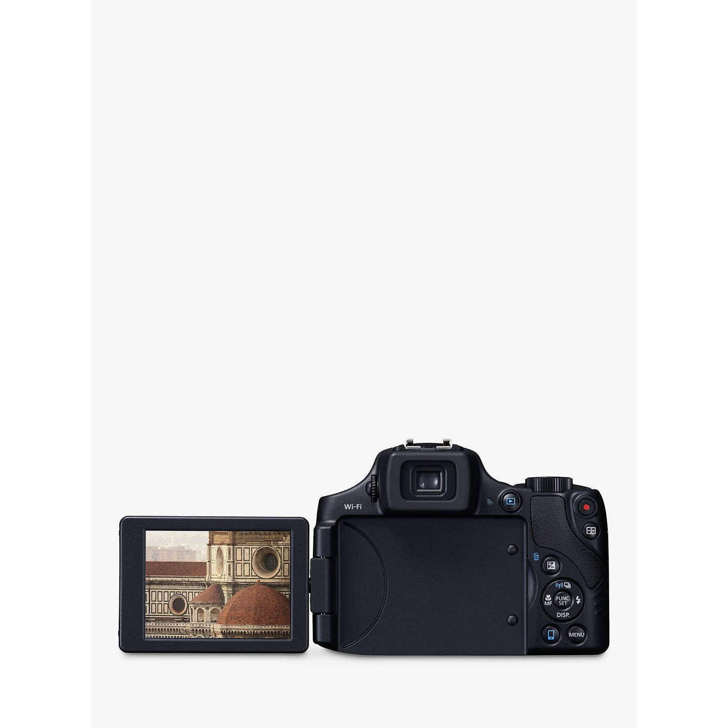 "BuyCanon PowerShot SX60 HS Bridge Camera, HD 1080p, 16.1MP, 65x Optical Zoom, 3"" LCD Screen, Black Online at johnlewis.com"