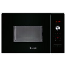 Buy Bosch HMT84M664B Built-In Compact Microwave Oven, Black Online at johnlewis.com