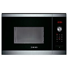 Buy Bosch HMT84M654B Built-In Compact Microwave Oven, Brushed Steel Online at johnlewis.com