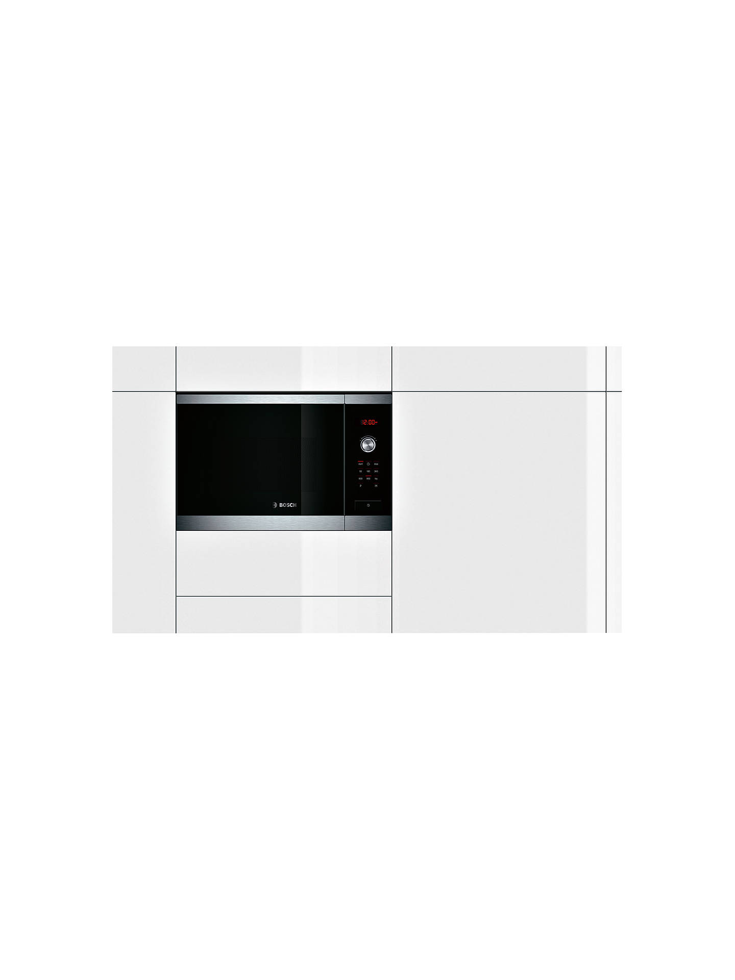 Bosch Hmt84m654b Built In Compact Microwave Oven Brushed Steel Online At Johnlewis