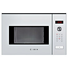 Buy Bosch HMT84M624B Built-In Compact Microwave Oven, White Online at johnlewis.com