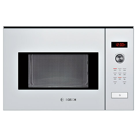 Bosch Hmt84m624b Built In Compact Microwave White Online At Johnlewis