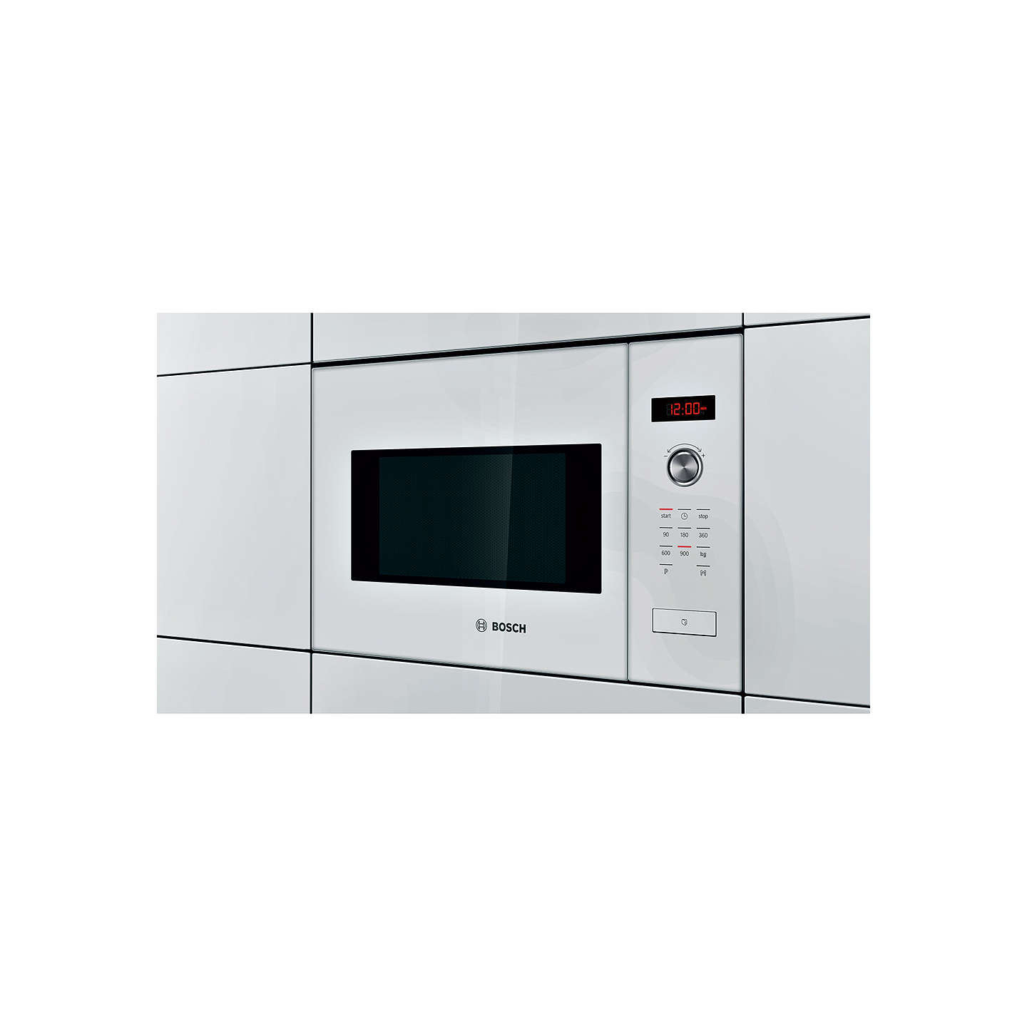 Bosch hmt84m624b built in compact microwave oven white at for Small built in microwave oven
