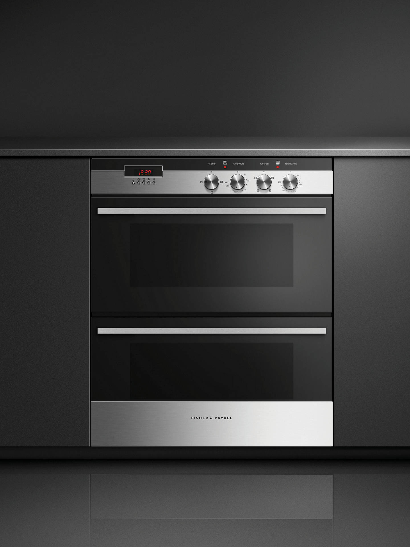 Fisher Paykel Ob60hdex3 Double Built Under Electric Oven Black Gl Stainless Steel