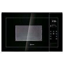 Buy Neff H11WE60S0G Built-In Microwave, Black Online at johnlewis.com