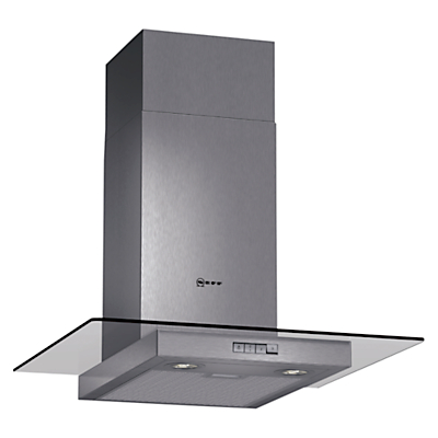 Image of Neff D86ER22N0B 60cm Stainless Steel Chimney Cooker Hood With Flat Glass Canopy