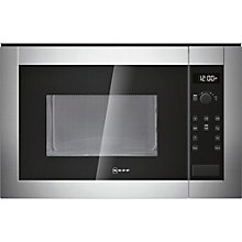 Buy Neff H12WE60N0G Built-In Microwave, Stainless Steel Online at johnlewis.com