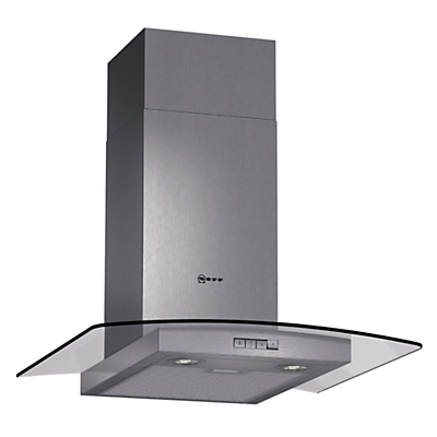 Image of Neff D86GR22N0B 60cm Stainless Steel Chimney Cooker Hood With Curved Glass Canopy