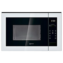 Buy Neff H12WE60W0G Built-In Microwave Oven, White Online at johnlewis.com